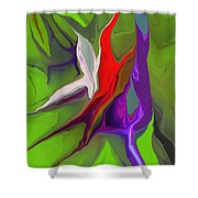 Abstract 101511 Shower Curtain