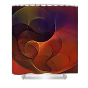 Abstract 102611c Shower Curtain