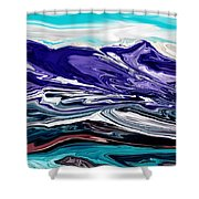 Abstract 102711 Shower Curtain