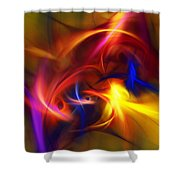 abstract 112811A Shower Curtain