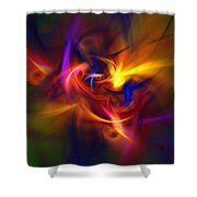 Abstract 112811b Shower Curtain
