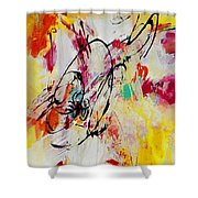 Abstract #118 Shower Curtain