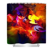 Abstract 120711 Shower Curtain