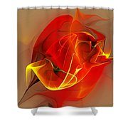 Abstract 121111 Shower Curtain