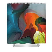 Abstract 122211 Shower Curtain
