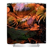 Abstract 123 Shower Curtain