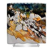 Abstract 210152 Shower Curtain