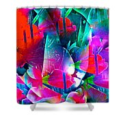 Abstract 250 Shower Curtain