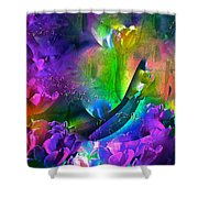 Abstract 255 Shower Curtain