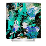 Abstract 690506 Shower Curtain