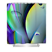 Abstract 80 Shower Curtain