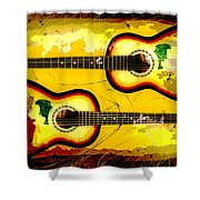 Abstract Acoustic Shower Curtain