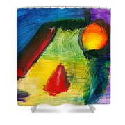 Abstract - Acrylic - Primitives Shower Curtain by Mike Savad