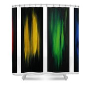Abstract Art Colorful Original Painting Winter Passion By Madart Shower Curtain