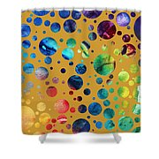 Abstract Art Digital Pixelated Painting Image Of Beauty Of Color By Madart Shower Curtain