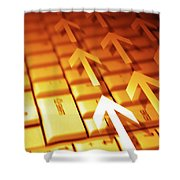 Abstract Background Shower Curtain by Carlos Caetano
