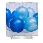Abstract Balloon Shower Curtain