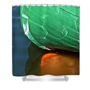 Abstract Boat Stern Shower Curtain