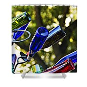 Abstract Bottle Structure Shower Curtain
