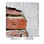Abstract Brick Wall II Shower Curtain