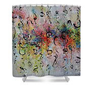 Abstract Calligraphy115 Shower Curtain