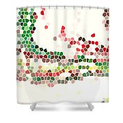 Abstract Celebration Shower Curtain