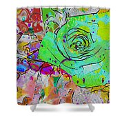 Abstract Childlike Rose Shower Curtain