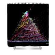 Abstract Christmas Tree 1 Shower Curtain