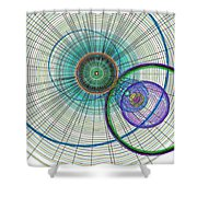 Abstract Circle Art Shower Curtain