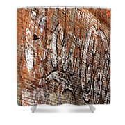 Abstract Coca Cola Sign Shower Curtain