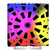 Abstract Color Forms Shower Curtain