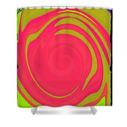 Abstract Color Merge Shower Curtain