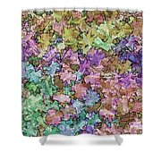 Abstract Colors Pale Shower Curtain
