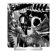 Abstract Composition Of Kitchen Utensils Shower Curtain