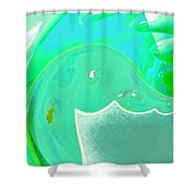Abstract Down By The Sea  Shower Curtain