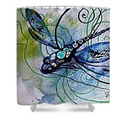 Abstract Dragonfly 10 Shower Curtain