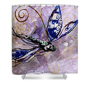 Abstract Dragonfly 9 Shower Curtain
