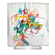 Elul 5 Shower Curtain