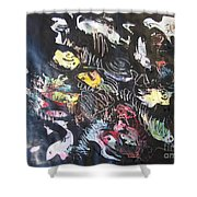 Abstract Fish212 Shower Curtain