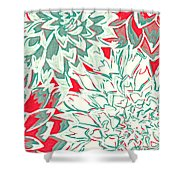 Abstract Flower 16 Shower Curtain