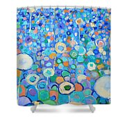 Abstract Flowers Field Shower Curtain