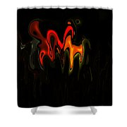 Abstract Fractals Melting 2 Shower Curtain