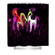 Abstract Fractals Melting 3 Shower Curtain