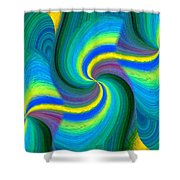 Abstract Fusion 108 Shower Curtain