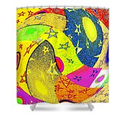 Abstract Fusion 110 Shower Curtain