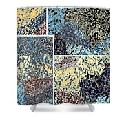 Abstract Fusion 111 Shower Curtain