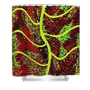 Abstract Fusion 120 Shower Curtain