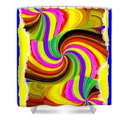 Abstract Fusion 123 Shower Curtain