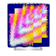 Abstract Fusion 127 Shower Curtain