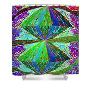 Abstract Fusion 129 Shower Curtain
